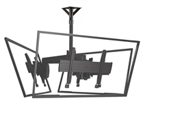 Triple Screen Multi Directional Ceiling Mount Solution