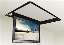 Motorized drop down ceiling tv bracket for 32 in to 52in tvs for Motorized tv mount over fireplace