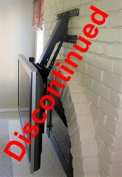 Fireplace tv mount extends out and folds downward for Motorized tv mount over fireplace
