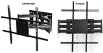 Samsung UN75KS9000FXZA Rotating TV wall bracket - All Star Mounts ASM-501L