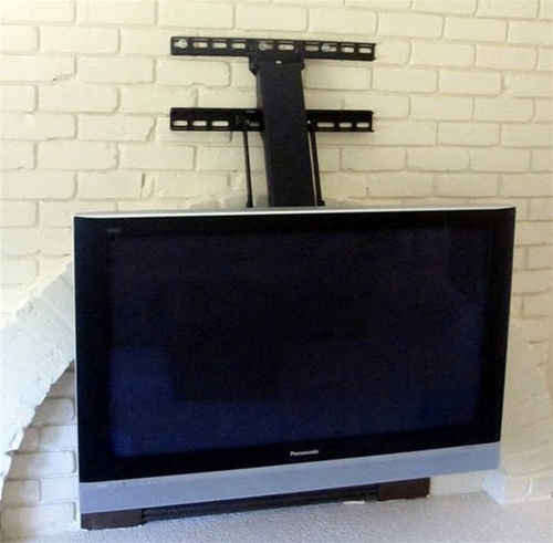 Fireplace Tv Mount Lowers 30 Inches Up Down